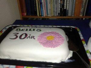 God tårta vid jubileumet.
